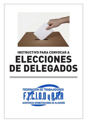 Instructivo para convocar a elecciones de delegados