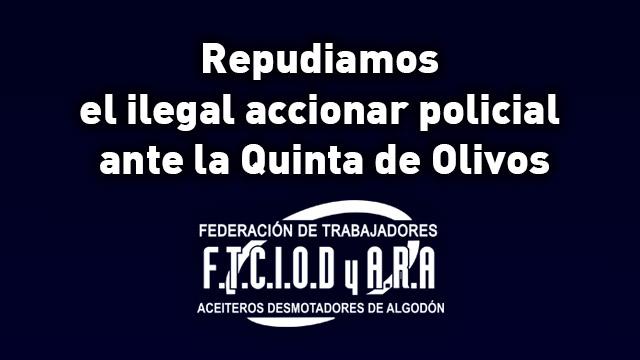 Repudiamos el ilegal accionar policial en la Quinta de Olivos