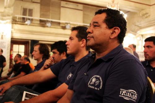 Noveno Plenario de Delegados. Compañeros del sindicato de Reconquista.