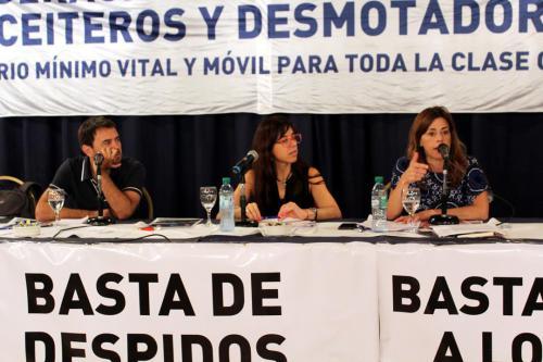 Panel: Batalla cultural del movimiento obrero, con Diego Genoud y Paula Abal Medina. Coordinadora: María Paula Lozano.