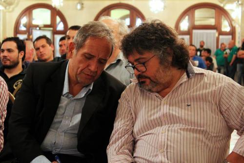 Noveno Plenario de Delegados. Sergio Palazzo junto a Daniel Yofra.